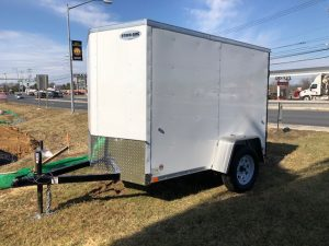 2018 Integrity 5 x 8 White Enclosed Trailer